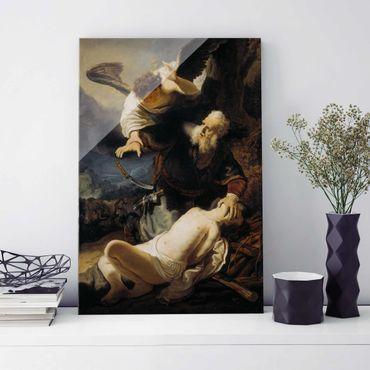 Glasbild - Kunstdruck Rembrandt van Rijn - Die Opferung Isaaks - Hoch 2:3