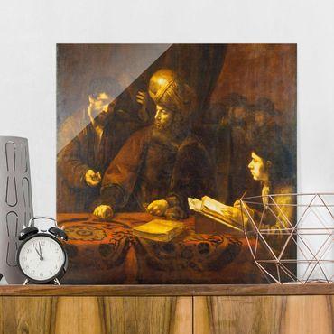 Glasbild - Kunstdruck Rembrandt van Rijn - Gleichnis von den Arbeitern im Weinberg - Quadrat 1:1