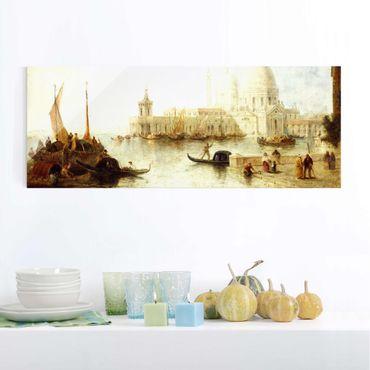 Glasbild - Kunstdruck Thomas Moran - Venedig II - Panorama Quer