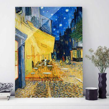 Glasbild - Kunstdruck Vincent van Gogh - Café-Terrasse am Abend in Arles - Post-Impressionismus Hoch 3:4