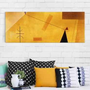 Glasbild - Kunstdruck Wassily Kandinsky - Außer Gewicht - Expressionismus Panorama Quer