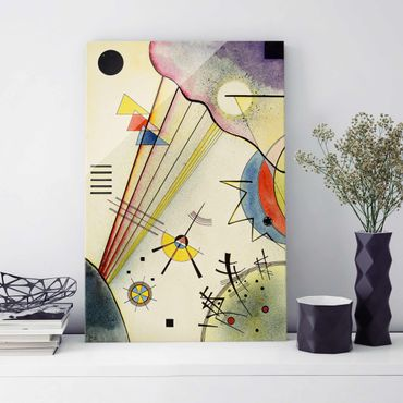 Glasbild - Kunstdruck Wassily Kandinsky - Deutliche Verbindung - Expressionismus Hoch 2:3