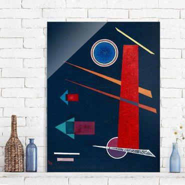 Glasbild - Kunstdruck Wassily Kandinsky - Mächtiges Rot - Expressionismus Hoch 3:4
