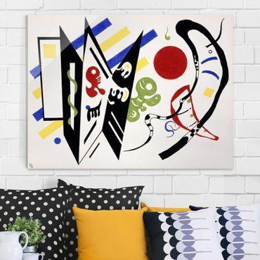 Glasbild - Kunstdruck Wassily Kandinsky - Reciproque - Expressionismus Quer 4:3