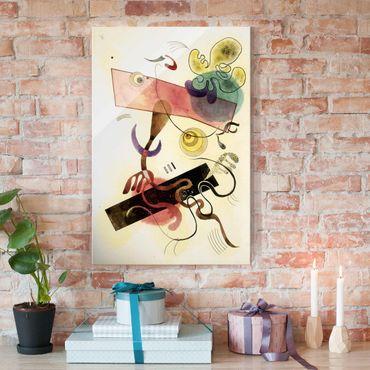 Glasbild - Kunstdruck Wassily Kandinsky - Taches: Verte et Rose (Flecken: Grün und Rosa) - Expressionismus Hoch 2:3
