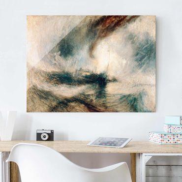 Glasbild - Kunstdruck William Turner - Schneesturm über dem Meer - Romantik Quer 4:3