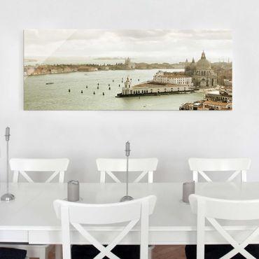 Glasbild - Lagune von Venedig - Panorama Quer