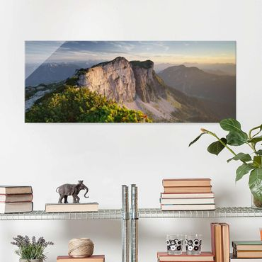 Glasbild - Loser Nordwand in Österreich - Panorama
