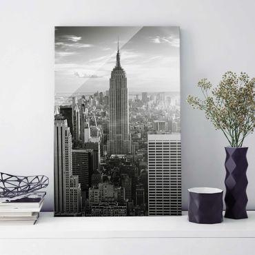 Glasbild - Manhattan Skyline - Hoch 2:3