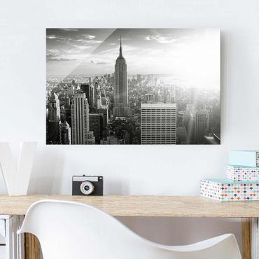 Glasbild - Manhattan Skyline - Quer 3:2