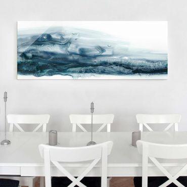 Glasbild - Meeresströmung II - Panorama