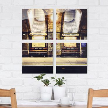 Glasbild mehrteilig - Baker Street 4-teilig