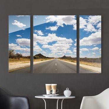 Glasbild mehrteilig - Route 66 3-teilig