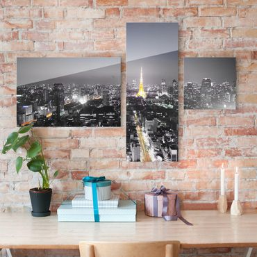 Glasbild mehrteilig - Tokio Collage 3-teilig