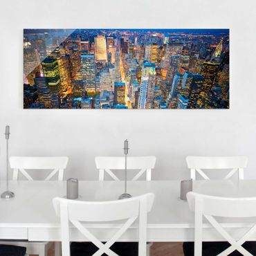 Glasbild - Midtown Manhattan - Panorama Quer
