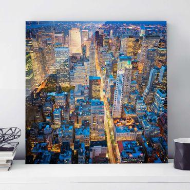 Glasbild - Midtown Manhattan - Quadrat 1:1