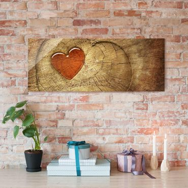 Glasbild - Natural Love - Panorama Quer