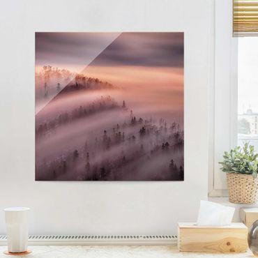Glasbild - Nebelflut - Quadrat 1:1