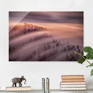 Glasbild - Nebelflut - Querformat 2:3