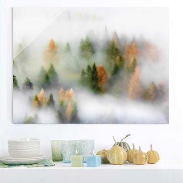 Glasbild - Nebelwald im Herbst - Querformat 3:4