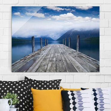 Glasbild - Nelson Lakes National Park Neuseeland - Quer 4:3
