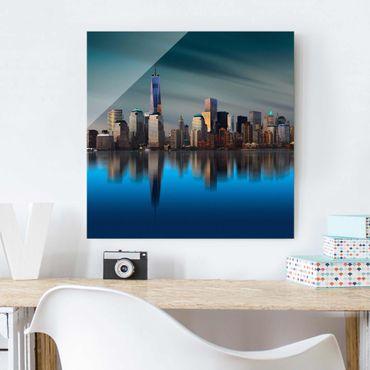 Glasbild - New York World Trade Center - Quadrat 1:1