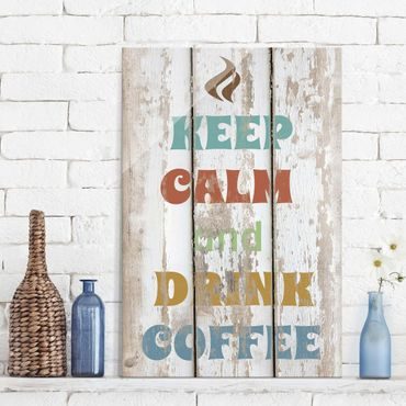 Glasbild - No.RS184 Drink Coffee - Hoch 2:3