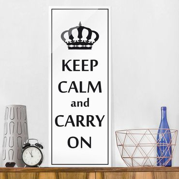 Glasbild - No.RS69 Keep Calm - Panorama Hoch