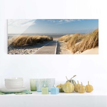 Glasbild - Ostsee Strand - Panorama Quer