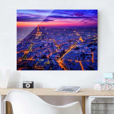 Glasbild - Paris bei Nacht - Querformat 3:4