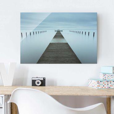 Glasbild - Pier in Schweden - Querformat 2:3