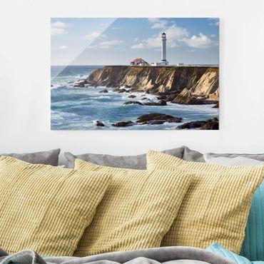 Glasbild - Point Arena Lighthouse Kalifornien - Querformat 2:3