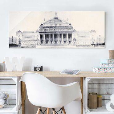 Glasbild - Prix de Rome Skizze II - Panorama
