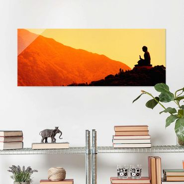 Glasbild - Resting Buddha - Panorama Quer
