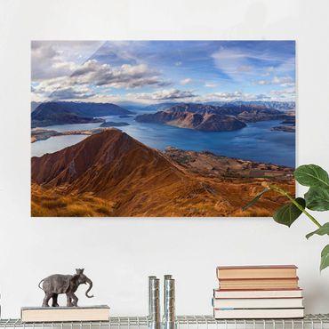 Glasbild - Roys Peak in Neuseeland - Quer 3:2