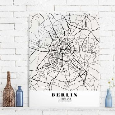 Glasbild - Stadtplan Berlin - Klassik - Hochformat 4:3