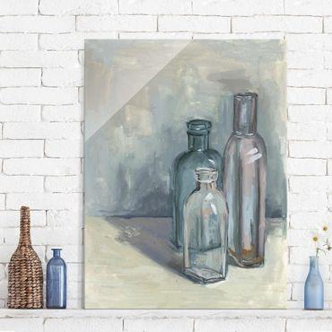 Glasbild - Stillleben mit Glasflaschen I - Hochformat 4:3
