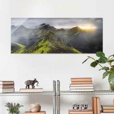 Glasbild - Storkonufell Island - Panorama
