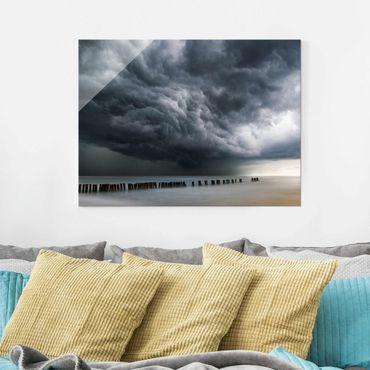 Glasbild - Sturmwolken über der Ostsee - Querformat 3:4