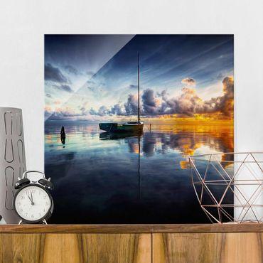 Glasbild - Time For Reflection - Quadrat 1:1