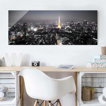 Glasbild - Tokio - Panorama Quer