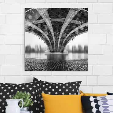 Glasbild - Under The Iron Bridge - Quadrat 1:1