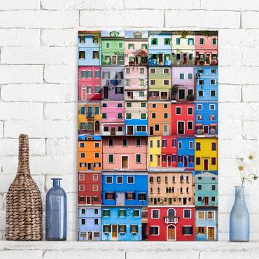 Glasbild - Venezianische Häuser - Hoch 2:3