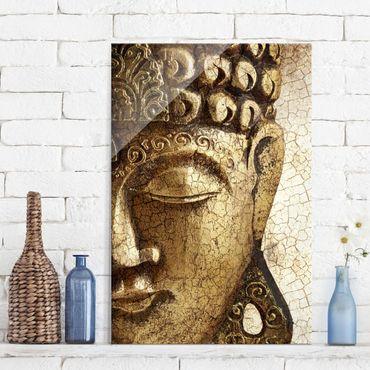 Glasbild Buddha - Vintage Buddha - Buddha Bild Hoch 2:3