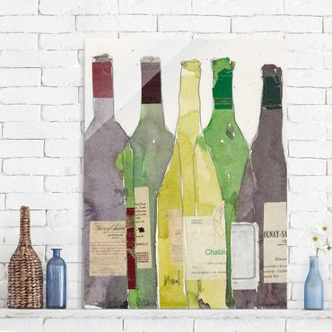 Glasbild - Wein & Spirituosen III - Hochformat 4:3