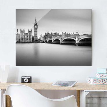 Glasbild - Westminster Brücke und Big Ben - Querformat 3:4
