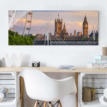 Glasbild - Westminster Palace London - Panorama