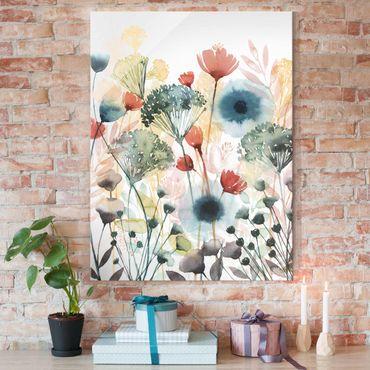 Glasbild - Wildblumen im Sommer I - Hochformat 4:3