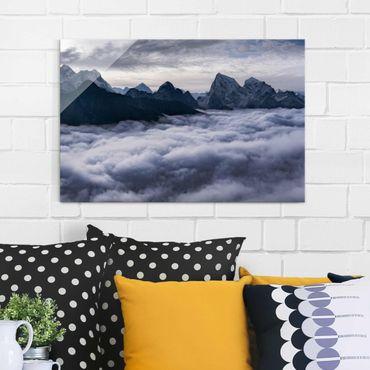 Glasbild - Wolkenmeer im Himalaya - Querformat 2:3