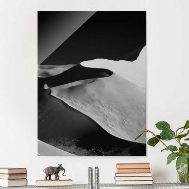 Glasbild - Wüste - Abstrakte Dünen - Hochformat 4:3